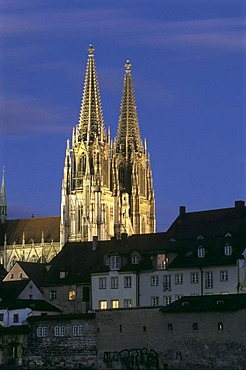 The cathedral in Regensburg, Bavaria, Germany