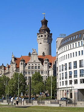 The new city hall in Leipzig, Saxony, Germany