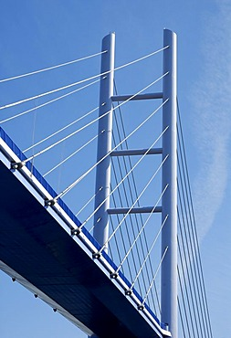 New Ruegenbruecke (bridge), Stralsund, Mecklenburg-Western Pomerania, Germany