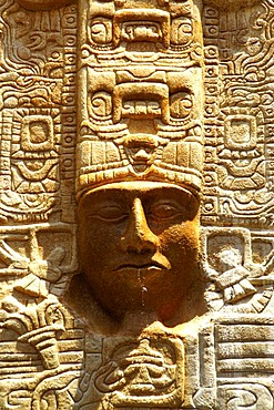 Maya relief, reproduction, Cancun Yucatan, Mexico