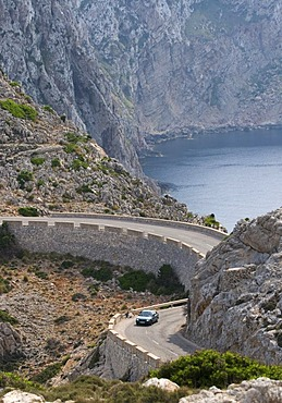 Cap de Formentor, mountain road, Majorca, Balearic Islands, Spain