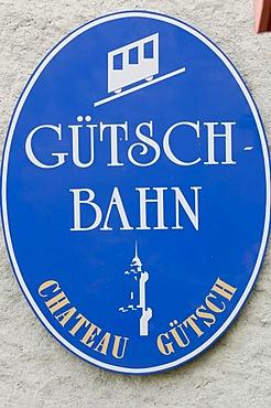 Sign Guetschbahn, Lucerne, Switzerland