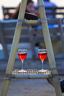 Wine glasses, Ibiza, Balearic Islands, Spain