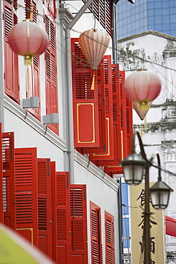 Shop fronts on Neil Road in Chinatown in the Chinese district of Singapore, Southeast Asia