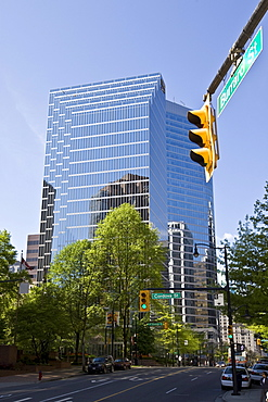 Commerce Place on Burrard Street, Vancouver, British Columbia, Canada, North America