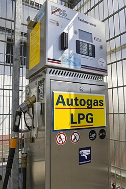 Gas station selling liquefied petroleum gas or LPG, Germany