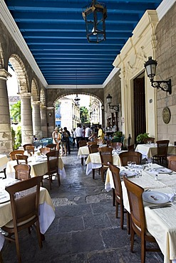 Historic restaurant in the historic city centre of Havana, Cuba, Caribbean