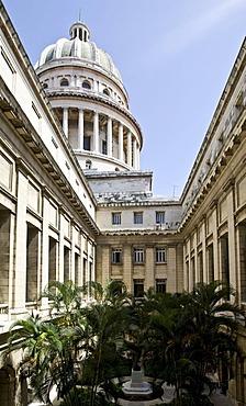 Inner courtyard of the Capitol, Capitol El Capitolio, Havana, Cuba, Caribbean
