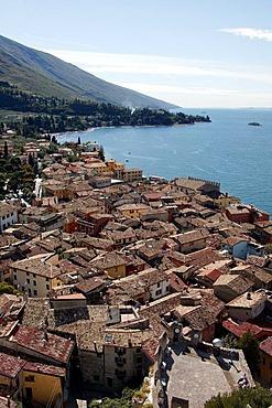 View on Malcesine at Lake Garda, Lago di Garda, Italien