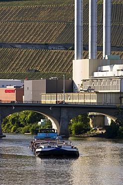 Cogeneration plant Wurzburg Main river Franconia Bavaria Germany