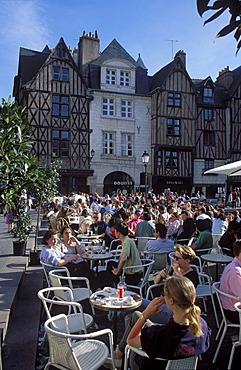 Place Plumereau in Tours Indre et Loire France