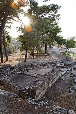 Archeological excavation of Minoan palace Agia Triada, Messara valley, Southern Crete, Greece