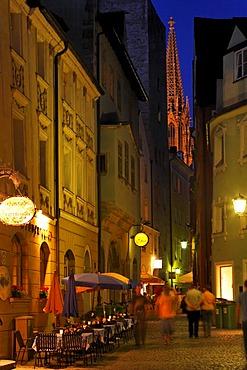 Cathedral, Regensburg (Hinter der Grieb), Upper Palatinate, Bavaria, Germany