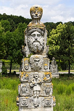 Max Buchhauser garden, Regensburg, Upper Palatinate, Bavaria, Germany