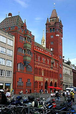Basel red townhall.