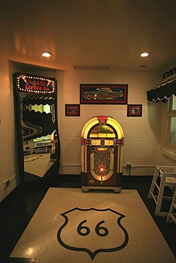 Inside the Polk-a-Dot Drive-In on historic Route 66, Illinois, USA