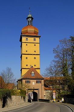 Segringer Tor (Segring gate) in Dinkelsbuehl, Central Franconia, Bavaria, Germany