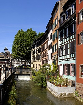 Medieval half-timbered houses in Strasbourg, Alsace, France