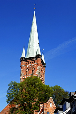 Tower of St. Petri Church, Luebeck, Schleswig-Holstein, Germany, Europe