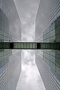 HighLight Towers on a rainy day, Munich-Schwabing, Munich, Bavaria, Germany, Europe