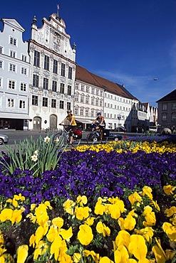 Market place, Landsberg Lech, Bavaria, Germany