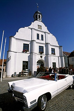 Town hall Wolgast, wedding, Baltic Sea Coast, Mecklenburg-Western Pomerania, Germany