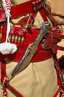 Beduin police officer, dagger made of silver, Petra, Jordan, Middle East