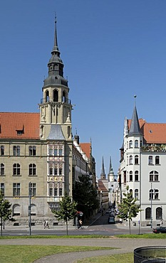 District court, Rathausstrasse Street, Halle/Saale, Saxony-Anhalt, Germany, Europe