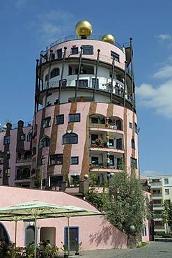 Green citadel, Hundertwasser house, Friedensreich Hundertwasser, Magdeburg, Saxony-Anhalt, Germany, Europe