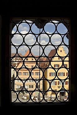 View of the Market Square, Rothenburg ob der Tauber, Bavaria, Germany