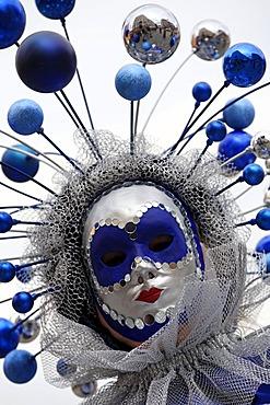 Mask, Venetian week, Nuremberg, Middle Franconia, Bavaria, Germany, Europe