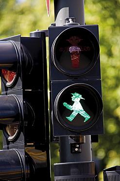 Green pedestrian traffic light, Berlin, Germany