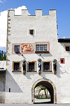 St. Johann Benedictine Monstary, World Cultural Heritage, in Muestair, Val Muestair, Muenstertal, in Engadin, Graubuenden, Switzerland, Europe