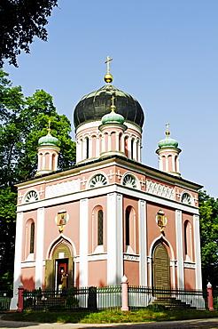 Russian-orthodox church Alexander Newski in the Russian colony Alexandrowka, Potsdam, Brandenburg, Germany, Europe