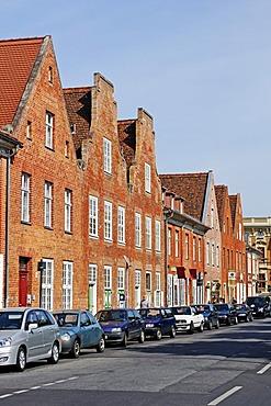 Brick architecture, Hollaendisches Viertel, Dutch Quarter, Potsdam, Brandenburg, Germany, Europe