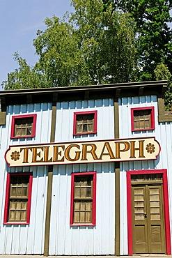 Western town in Babelsberg Filmpark, Potsdam, Brandenburg, Germany, Europe