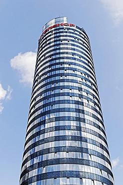 Jentower, former University Tower, headquarters of the company Intershop, Jena, Thuringia, Germany, Europe
