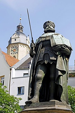 Hanfried monument on the market square of Jena, Thuringia, Germany, Europe