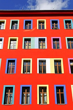 Colourful building in the Kreuzberg district, Berlin, Germany, Europe