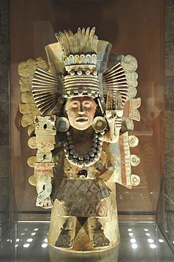 Pre-Columbian museum piece, Museo Nacional de Antropologia, National Museum of Anthropology, Mexico City, Mexico, North America