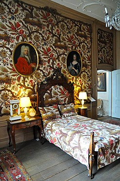 Bedroom, Willet-Holthuysen Museum, interior view, Keizersgracht, Amsterdam, Netherlands, Europe
