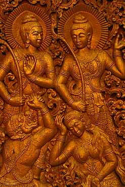Relief at the temple Vat Xieng Thong in Luang Prabang, Laos