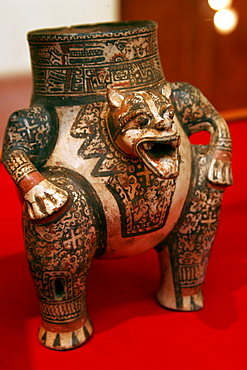 Pre-Columbian art in a museum, San Francisco Convent Cultural Center in Granada, Nicaragua, Central America