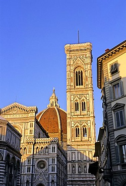 Basilica di Santa Maria del Fiore, campanile, Florence, Firenze, Tuscany, Italy, Europe