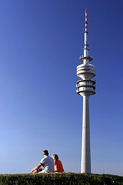 Olympiaturm, Olympiapark, Munich, Upper Bavaria, Bavaria, Germany