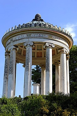 Monopteros (Roman temple) in the English Garden, Munich, Bavaria, Germany