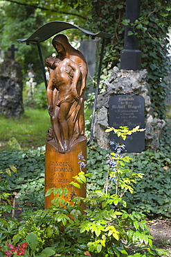 Grave of Dr. phil. Thaddaeus Siber, 1774-1854, mathematician, Alter Suedfriedhof, old cemetery in Munich, Bavaria, Germany