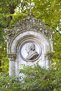 Grave of Josef Hoechl, 1777-1838, municipal architect, Alter Suedfriedhof, old cemetery in Munich, Bavaria, Germany