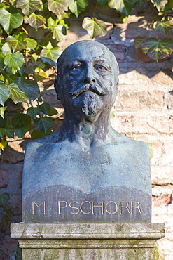 Grave of Matthias Pschorr, 1834-1900, beer brewer, Alter Suedfriedhof Cemetery, Munich, Bavaria, Germany