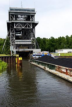 Niederfinow lock facility, Brandenburg, Germany, Europe